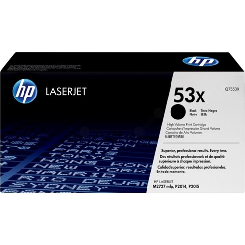 HP Q7553X 53X Black LaserJet Toner Cartridge 7000 pages