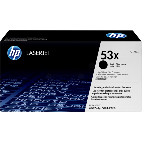 HP Q7553X (53X) Toner black, 7K pages