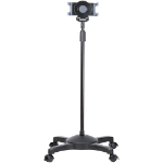 StarTech.com Mobile Tablet Stand with Lockable Wheels - Height Adjustable - Universal Rolling Floor Stand for Tablets from 7 to 11 inch, Portable Tablet Stand w/ Detachable Tablet Holder