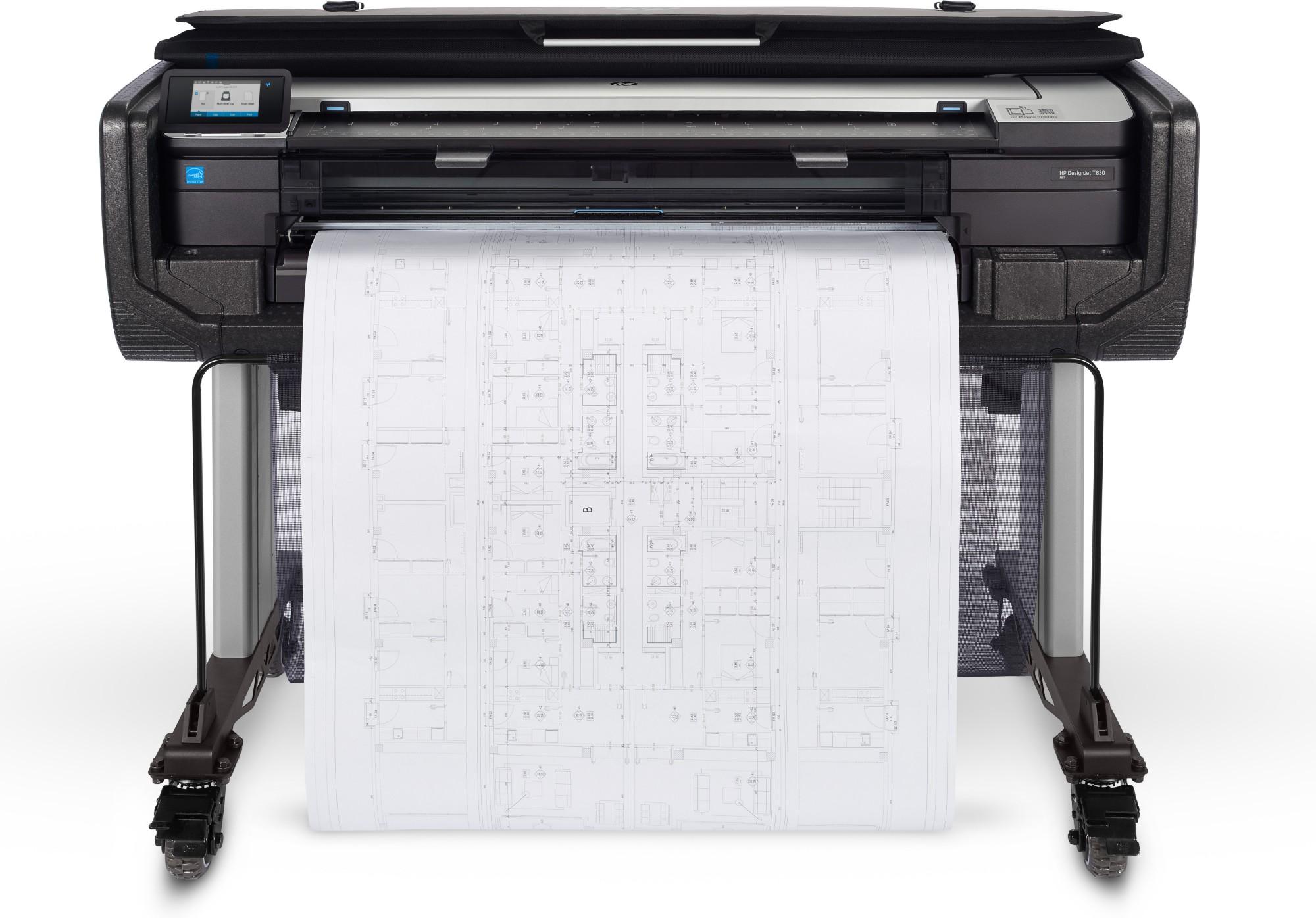 HP Designjet T830 36-in Colour 2400 x 1200DPI Thermal inkjet 914 x 1897 mm Wi-Fi large format printer