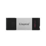 Kingston Technology DataTraveler 80 USB flash drive 32 GB USB Type-C 3.2 Gen 1 (3.1 Gen 1) Zwart, Zilver