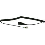 Jabra 01-0203 telephone cable Black