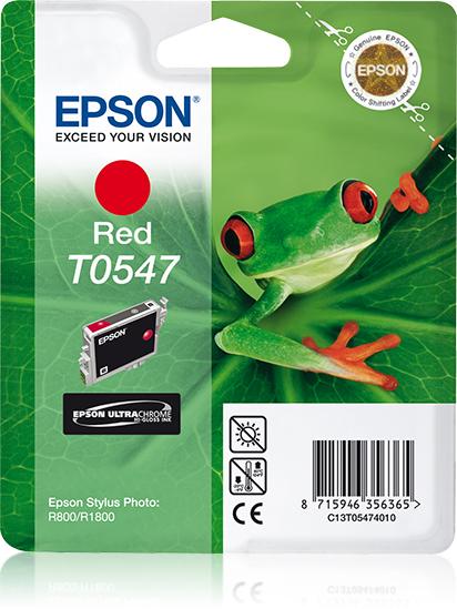 Epson inktpatroon Red T0547 Ultra Chrome Hi-Gloss