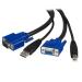 StarTech.com Cable de 3m KVM USB Universal 2 en 1