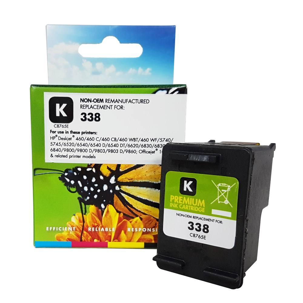 Refilled HP 338 Black Ink Cartridge