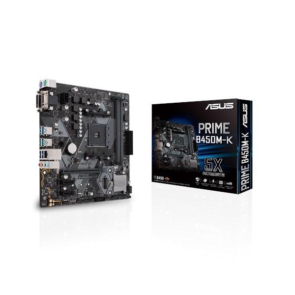 ASUS PRIME B450M-K AMD B450 mATX Motherboard [90MB0YP0-M0UAY0]