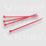 Videk 3.2mm X 142mm Red Cable Ties Pack of 100 Nylon Red cable tie