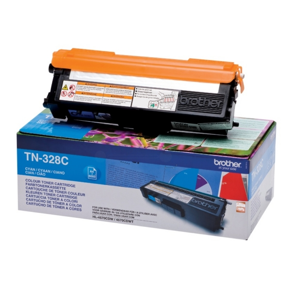 Brother TN-328C Toner cyan, 6K pages