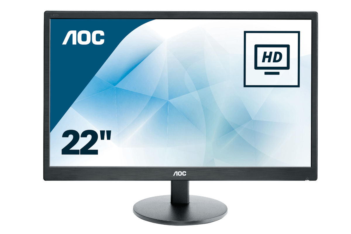 "AOC Basic-line E2270SWDN LED display 54.6 cm (21.5"") 1920 x 1080 pixels Full HD Black"