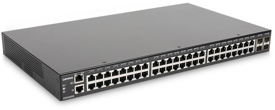 Lenovo CE0152TB Gestionado L2/L3 Gigabit Ethernet (10/100/1000) Negro 1U Energía sobre Ethernet (PoE)