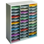 Fellowes 25061 literature rack 36 shelves Grey, White
