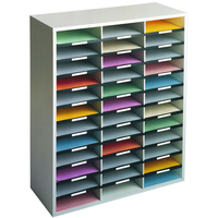 Fellowes 25061 literature rack 36 shelves Grey,White