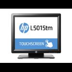 """HP L5015tm monitor pantalla táctil 38,1 cm (15"""") 1024 x 768 Pixeles Negro Multi-touch Mesa"""