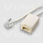 Videk BT Female to US RJ11 Male Modular Cable 2m telephony cable