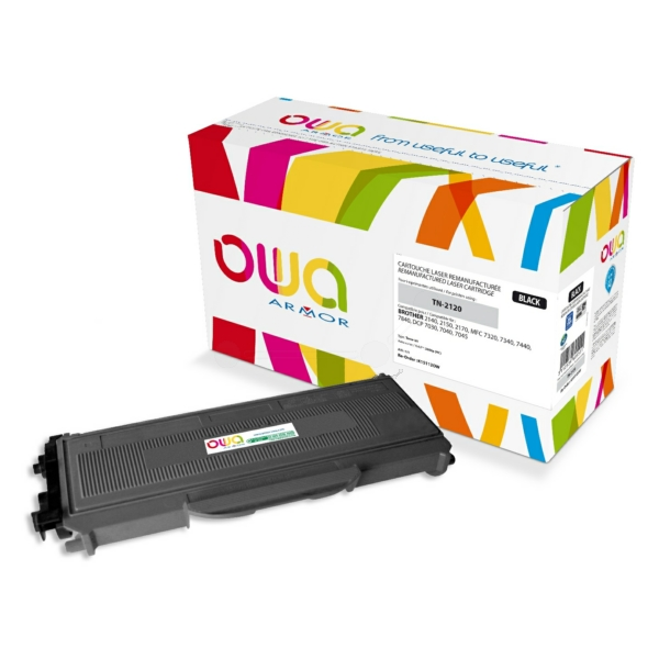 Armor K15112OW compatible Toner black, 2.6K pages @ 5% coverage, Pack qty 1 (replaces Brother TN2120)