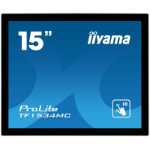 "iiyama ProLite TF1534MC-B1X 15"" 1024 x 768pixels Multi-touch Multi-user Black touch screen monitor"