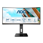 """AOC P2 CU34P2A LED display 86.4 cm (34"""") 3440 x 1440 pixels Quad HD Black"""