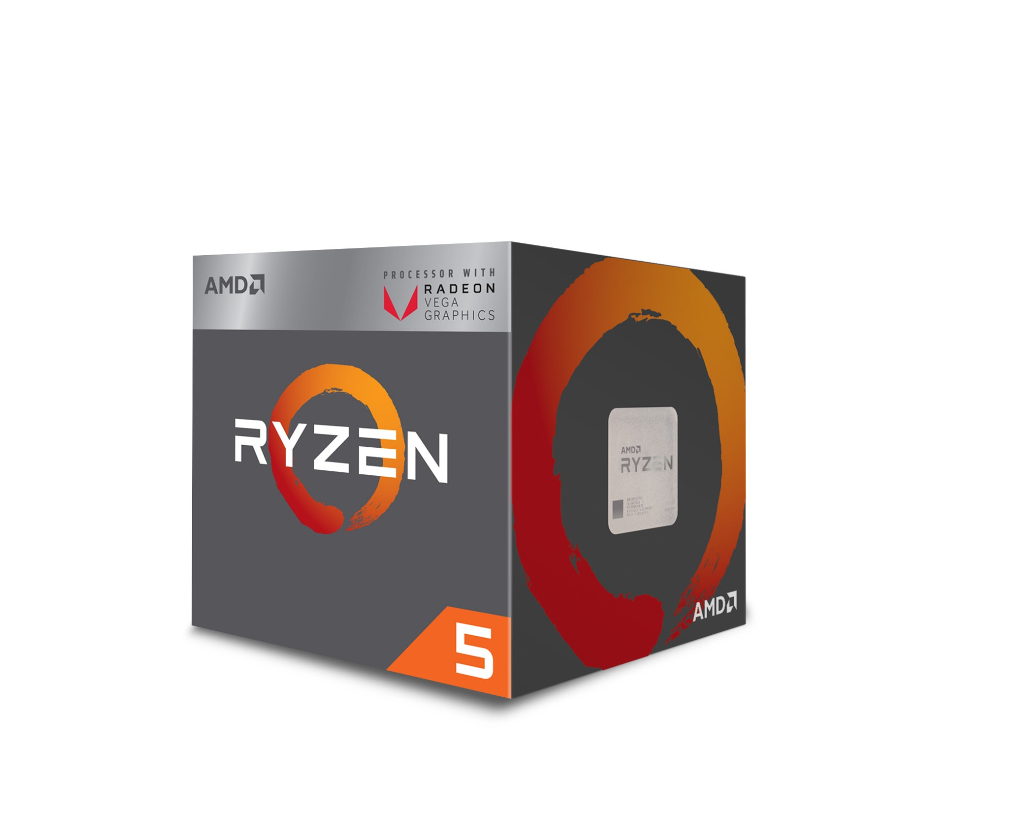AMD Ryzen 5 2400G 3.6GHz 2MB L2 Box processor