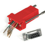 C2G RJ45/DB9F Modular Adapter RJ45 DB9F Red cable interface/gender adapter