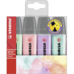 STABILO BOSS ORIGINAL marker 4 pc(s) Lilac,Mint,Pink,Turquoise Chisel tip