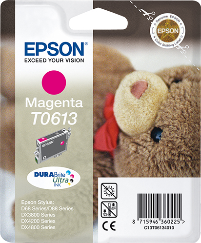 Epson C13T06134010 (T0613) Ink cartridge magenta, 250 pages @ 5% coverage, 8ml