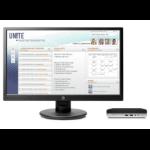 HP ProDesk 400 G3 Mini + V214a 2,70 GHz 7ª generación de procesadores Intel® Core™ i5 i5-7500T Negro, Plata Escritorio Mini PC