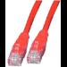 Intellinet Cat6 UTP, 0.5m 0.5m Cat6 U/UTP (UTP) Red networking cable