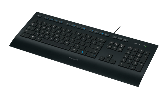 Logitech K280e keyboard USB QWERTY Pan Nordic Black