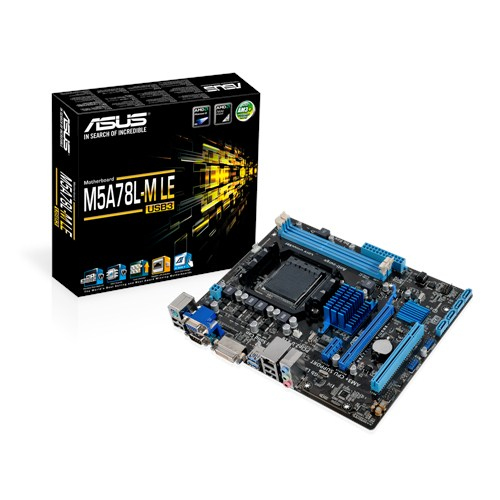ASUS M5A78L-M LE/USB3 AMD 760G AM3+ Micro ATX 2 DDR3 RAID USB3 up to 95W CPU Support