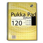 Pukka Vellum Notebook Wirebound Perforated Ruled Margin 80gsm 120pp A4 Vellum Ref VJM/1 [Pack 3]