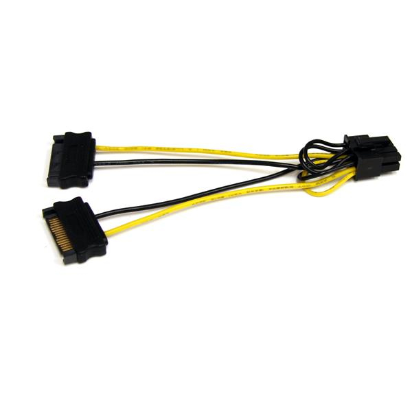 StarTech.com 6in SATA Power to 8 Pin PCI Express Video Card Power Cable Adapter