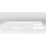 Logitech K400 Plus RF Wireless QWERTY UK English White keyboard