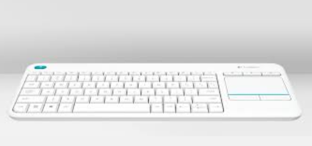 Logitech K400 Plus keyboard RF Wireless QWERTY UK English White