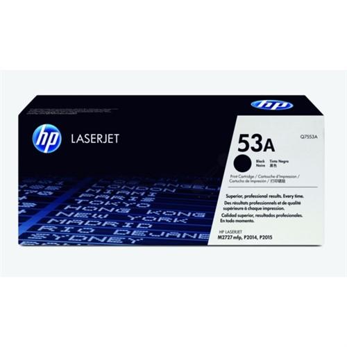 HP Q7553A 53A Black LaserJet Toner Cartridge 3000 pages