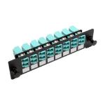 Tripp Lite N492-08D-LC High-Density Fiber Adapter Panel (MMF/SMF), 8 LC Duplex Connectors, Black