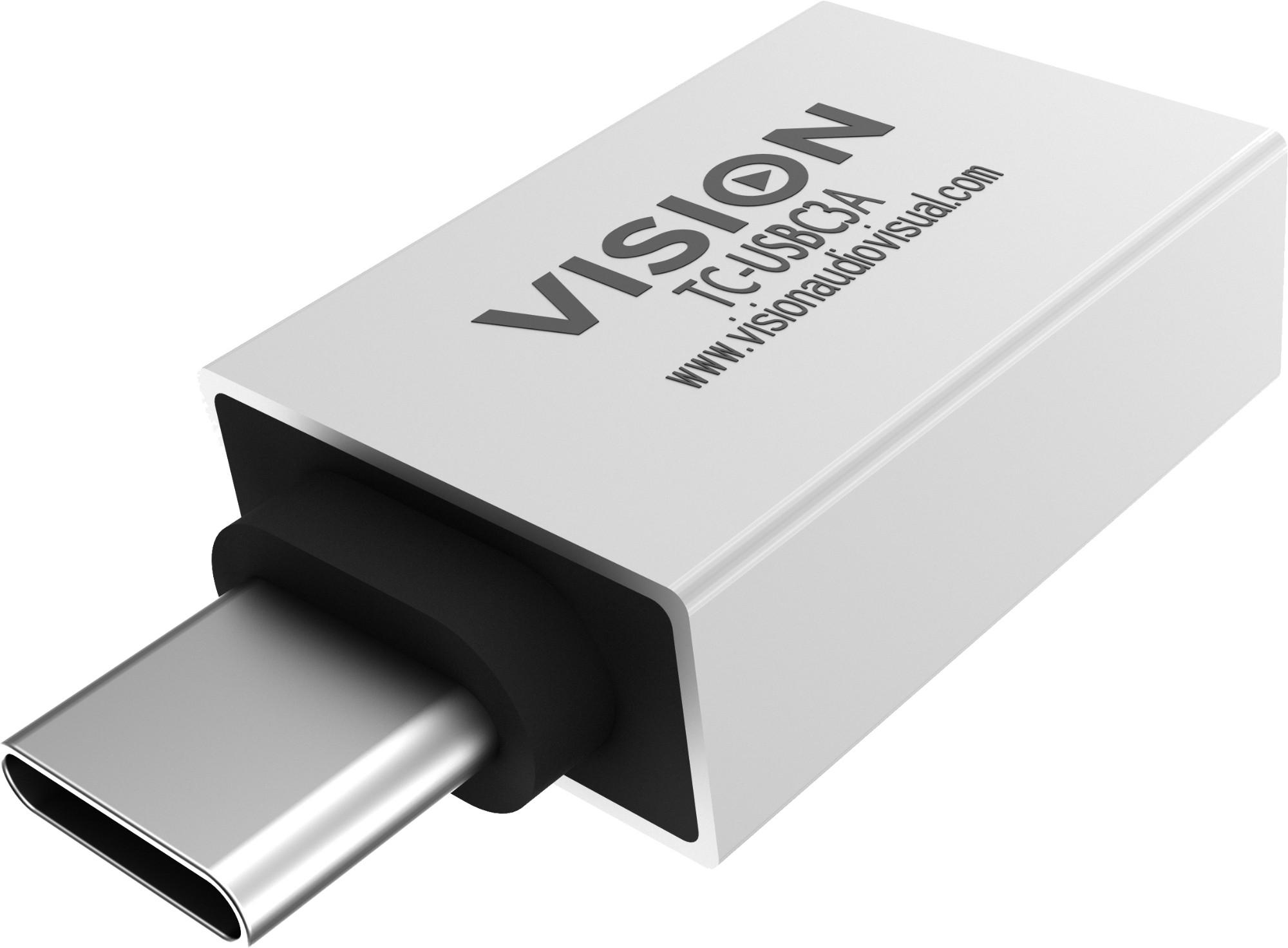Vision TC-USBC3A adaptador de cable USB-A USB-C Blanco