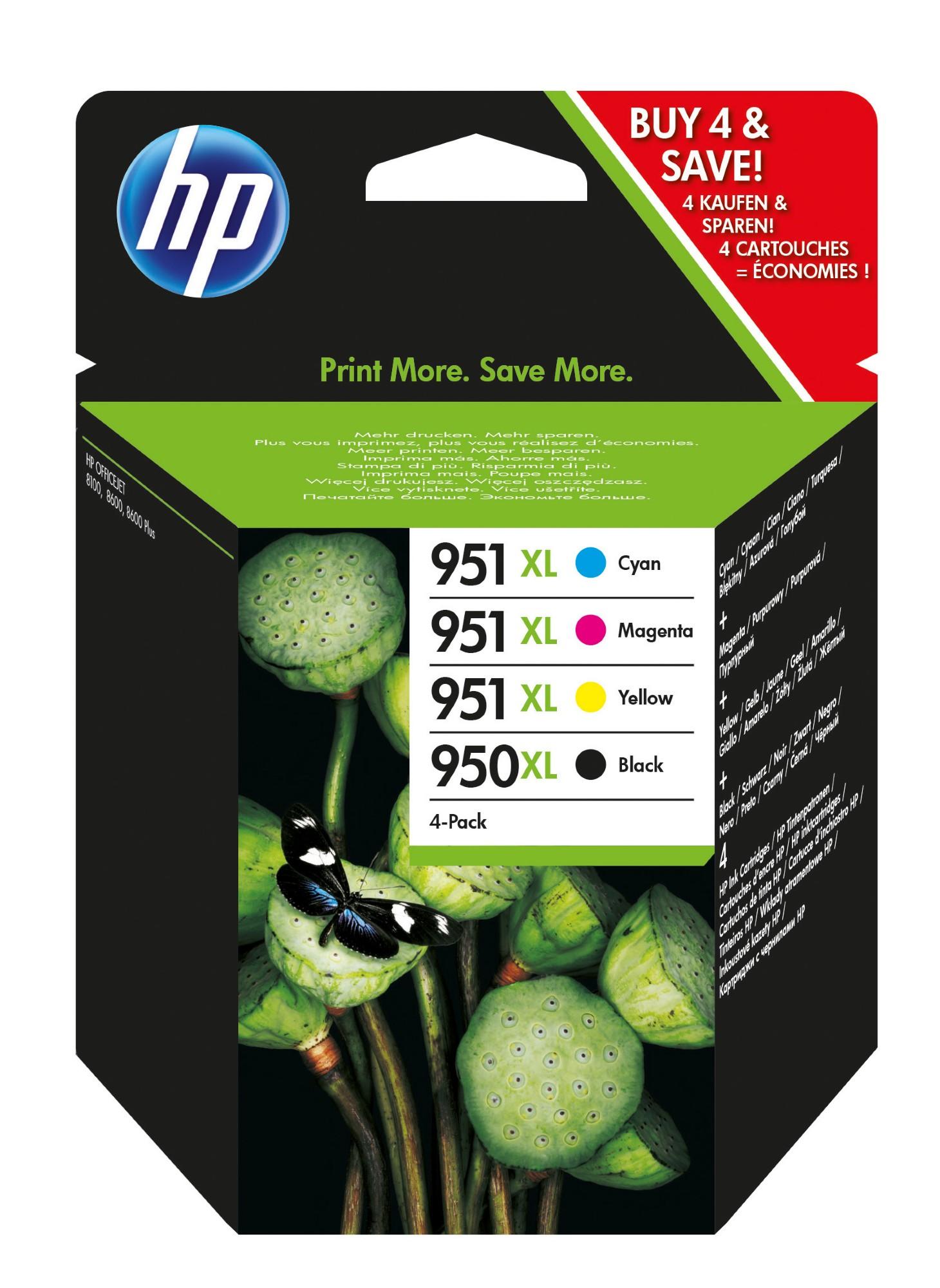 HP 950XL/951XL Original Negro, Cian, Magenta, Amarillo 4 pieza(s)