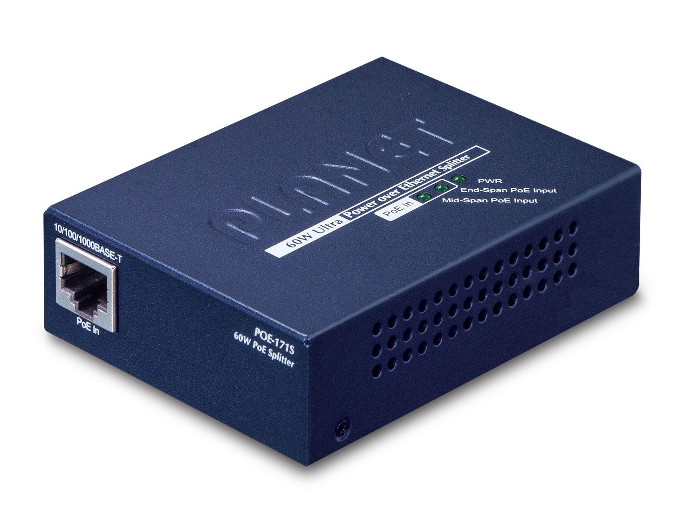 PLANET POE-171S network splitter Blue Power over Ethernet (PoE)