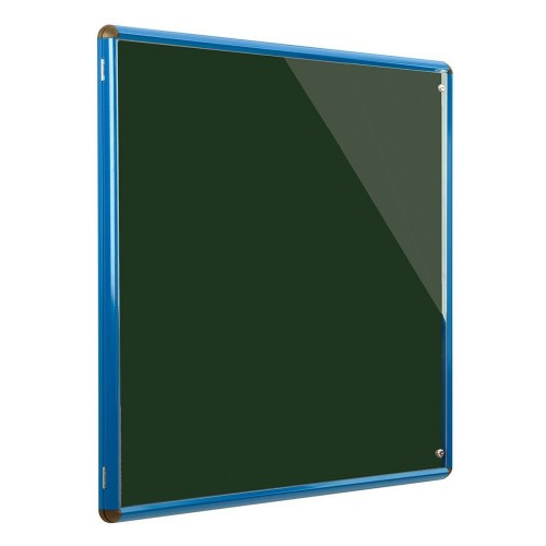 Metroplan Shield Design insert notice board Indoor Blue, Green Aluminium