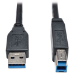 Tripp Lite USB 3.0 SuperSpeed Device Cable (AB M/M) Black, 15-ft.
