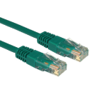 Cables Direct URT-600G 0.5m Cat5e U/UTP (UTP) Green networking cable