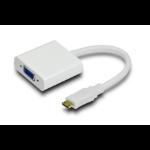 Astrotek Micro-HDMI - VGA M/F 0.2m Micro HDMI VGA White cable interface/gender adapter