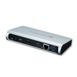 Toshiba DUD16A0E notebook dock/port replicator Wired USB 3.0 (3.1 Gen 1) Type-C Black,Silver