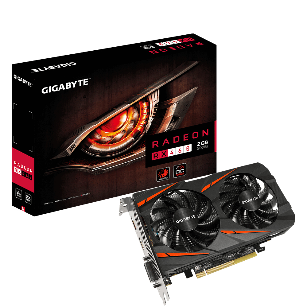Gigabyte Radeon RX 460 Windforce OC 2GB
