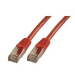 MCL FCC6ABM-2M/R cable de red Rojo