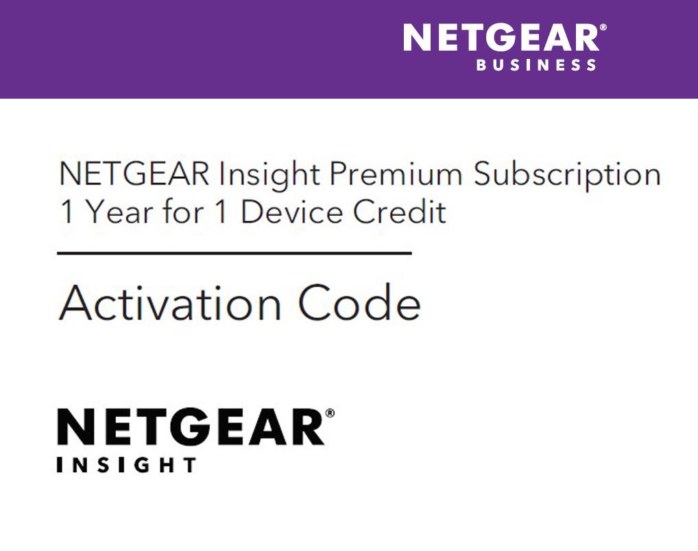 Netgear Insight Premium 1 license(s) Multilingual PMMSG1P-100UKS