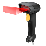 Adesso NuScan 2500TU Handheld bar code reader 1D/2D CMOS Black,Yellow