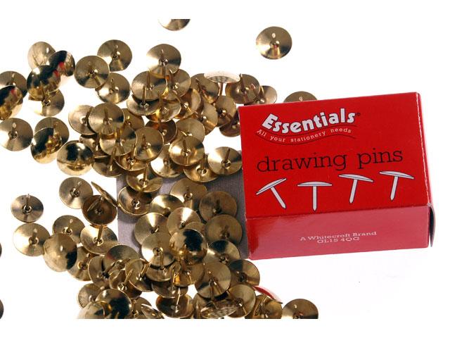 Value Brass Drawing Pins Bx100  10-pk