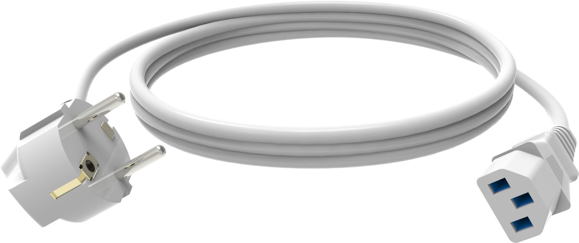 Vision TC 2MEUIEC power cable White 2 m C13 coupler CEE7/7