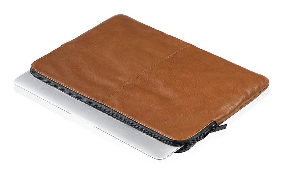 Brown Leather Slim Sleeve For iPad 15in